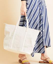 【別注】<Folna>∴帆布×皮革寬版托特包