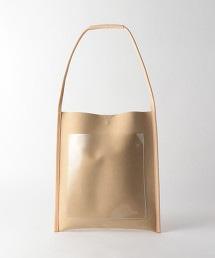 BY 仿麂皮×透明外袋 肩背包