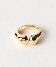 <VELATTI>雙球黃金色戒指