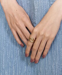 <PHILIPPE AUDIBERT>DIANA 戒指/鍍金 法國製