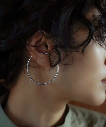 <BYOKA>圈型耳骨夾/SLIVER950 Ψ 日本製