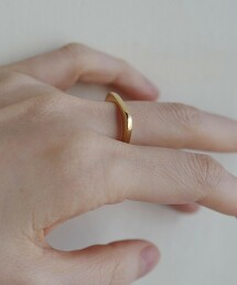 <BYOKA>金色SLICE戒指 Ψ 日本製