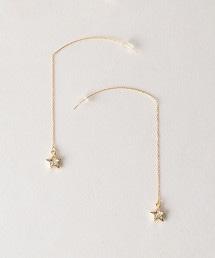BY 星型墜飾美式耳環