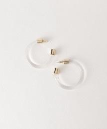 BY 透明×金屬 C耳環