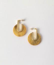 BY 金屬×大理石紋耳環