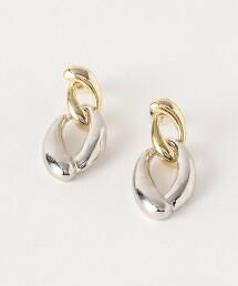 BY 金屬雙鏈環耳環