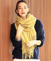 <ASAUCE MELER>∴喀什米爾棋盤格紋圍巾