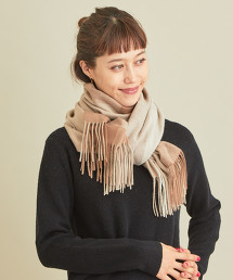 BY 喀什米爾 色塊格紋 披肩圍巾 OUTLET商品
