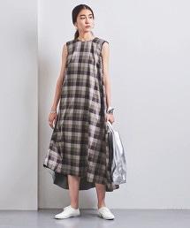 <STYLE for LIVING> 格紋荷葉長版洋裝