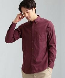 SC 多臂織 混色 釦領 長袖襯衫