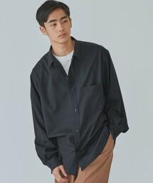 < 機能 / 彈性・洗滌可 > TW 可水洗輕薄 微寬長袖襯衫