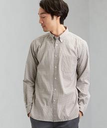 C/C 彈性 細格紋釦領襯衫  <機能性  /  抗菌・速乾性・彈性 >#