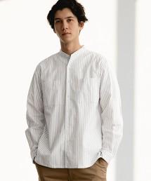 SC 自然貼合 牛津布 立領 LS 襯衫