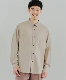 CM 雙口袋 緞面微寬長袖襯衫