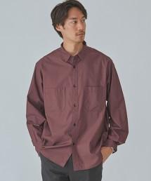 CM 雙口袋 緞面微寬長袖襯衫 OUTLET商品