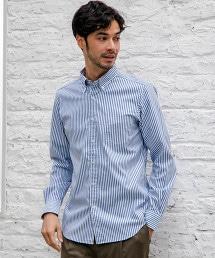 NM C/C 彈性直條紋扣領襯衫