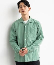 CM 蠶絲混棉 開領 LS 襯衫