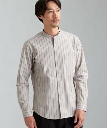 CSN 直條紋立領 長袖 襯衫