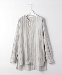 『 BRACTMENT 』 直條紋 起毛 寬鬆 無領 襯衫 日本製
