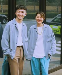 【 WEB限定 】[ GLR/ -or ] 開領 襯衫 男女兼用 無性別