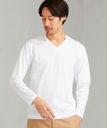 CM 有機棉 整潔 V領 LS T恤