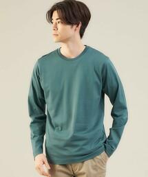 <green label relaxing>有機棉 簡潔圓領長袖上衣