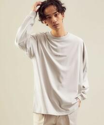<green label relaxing>文字印刷 圓領上衣 長袖 T恤