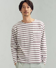 SC 橫條紋 船型領 LS T恤