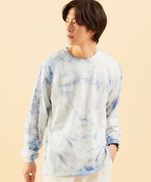 ★ [ GLR/ lab ] 高領紮染 圓領長袖T恤