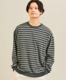 < 機能 / 抗菌・吸水速乾 > [ Livelihood ] Dryclean 橫條紋上衣