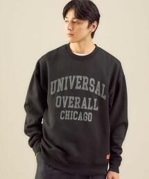 【特別訂製】<UNIVERSAL OVERALL×green label relaxing>LOGO 圓領長袖厚棉TEE