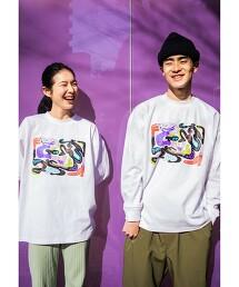 【 WEB限定 】[ GLR/ -or ] Keeenue 插畫 長袖 T恤 男女兼用 無性別