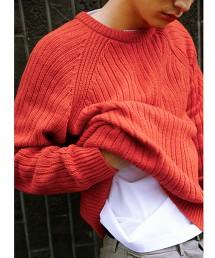 SC KNOLL 羅紋 插肩袖 圓領 針織 毛衣