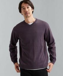< 2件組 > SC 棉 V領 針織層次上衣