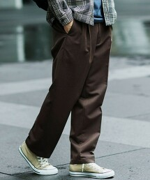 < 休閒可成套 可手洗 > CM 厚磅嗶嘰布 2P/W 直筒褲 #