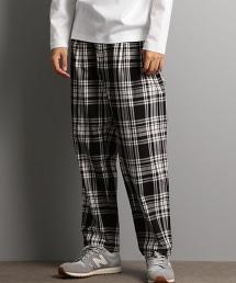 CM KINLOCH ANDERSON 蘇格蘭紋 寬版 錐形褲