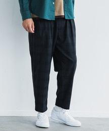 CM WSB 嗶嘰格紋布 2PW 錐形 9分褲<機能性材質 / 可水洗>