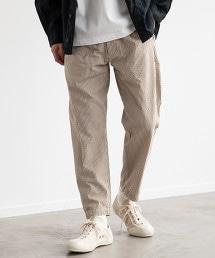 SC 泡泡紗直條紋 輕便褲 / 9分長 / 腳踝褲