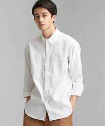 CM STRC 法國亞麻 釦領 7分袖 襯衫 <機能性材質 / 吸水速乾>