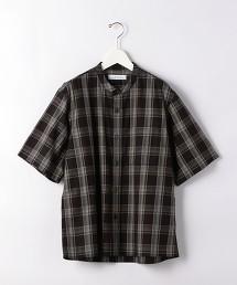 CM 格紋 立領 短袖襯衫 日本製 OUTLET商品
