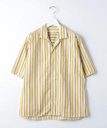 『 BRACTMENT 』 緞面多色條紋開領ˋ寬版襯衫 日本製