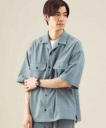 【 WEB限定 】[ GLR/ -or ] 寬鬆 CPO 短袖襯衫 中性可成套