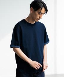 CM 雙面布料 橫條紋 圓領 短袖 / T恤