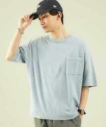 SC 粉末水洗 圓領短袖T恤