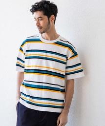 【先行預購】SC 複合橫條紋 圓領 短袖T恤