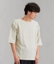 【先行預購】SC 針織橫條紋船領5分袖上衣