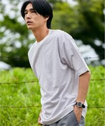 CM PK布 橫條紋圓領短袖T恤