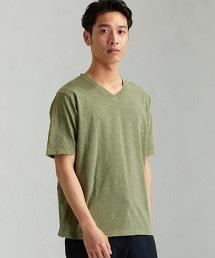 MC ASUTEX G/DYE V領 SS T恤