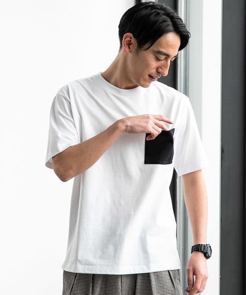 ★★SC 混色乾爽圓領口袋T恤 <機能性生地 / 吸水速乾>