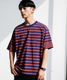 MC ACT-DRY 橫條紋圓領 SS 口袋T恤 <機能性材質 / 吸水快乾>
